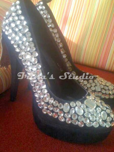 added decoration to shoes