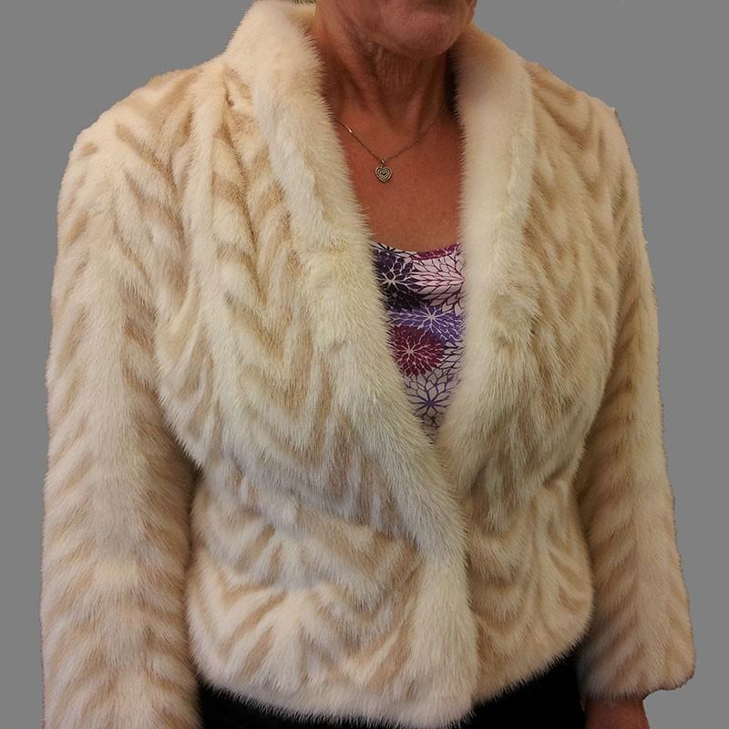 Handmade Mink Fur Jacket Front
